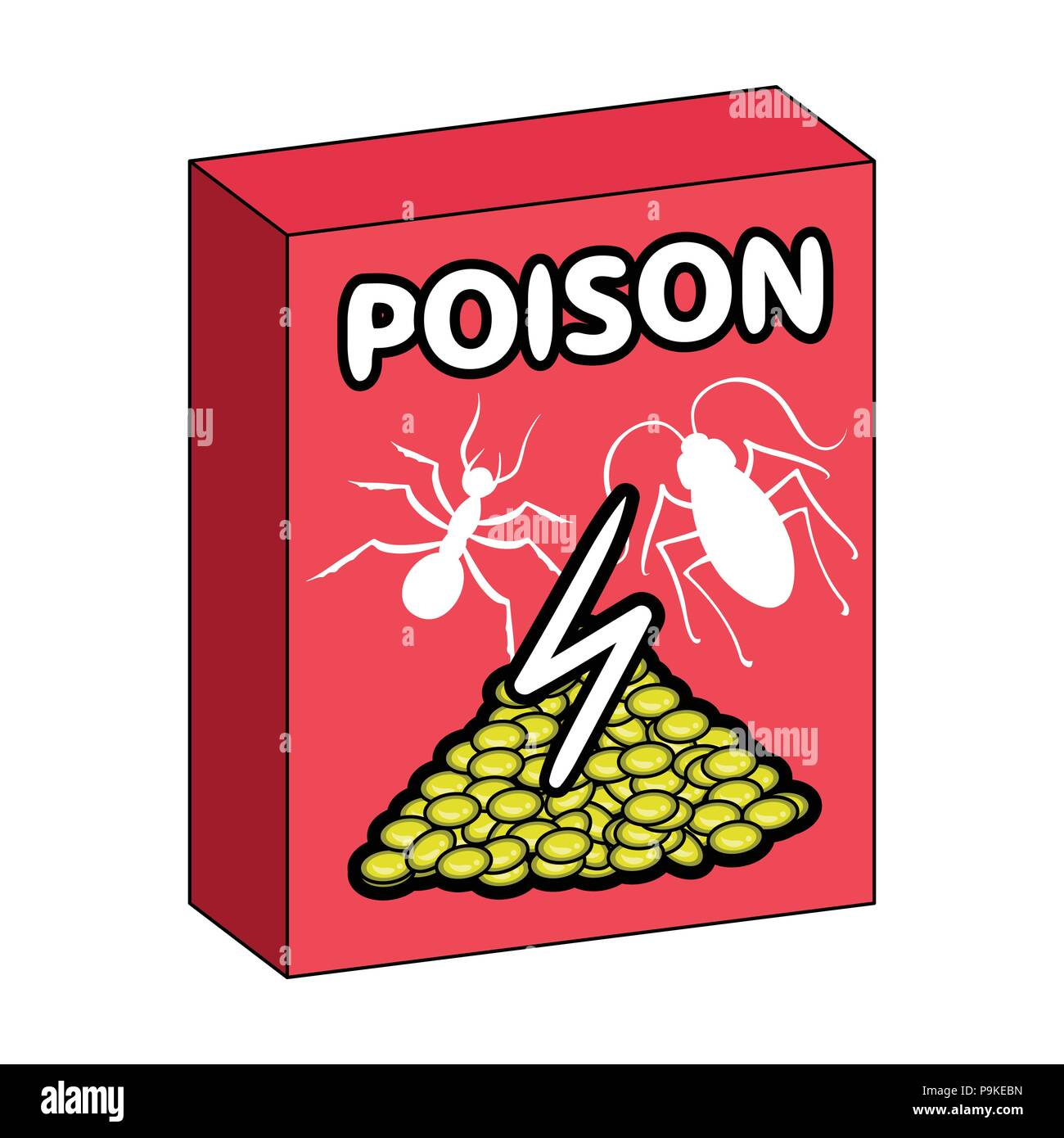 Packaging With Poison Single Icon In Cartoon Style For Designst
