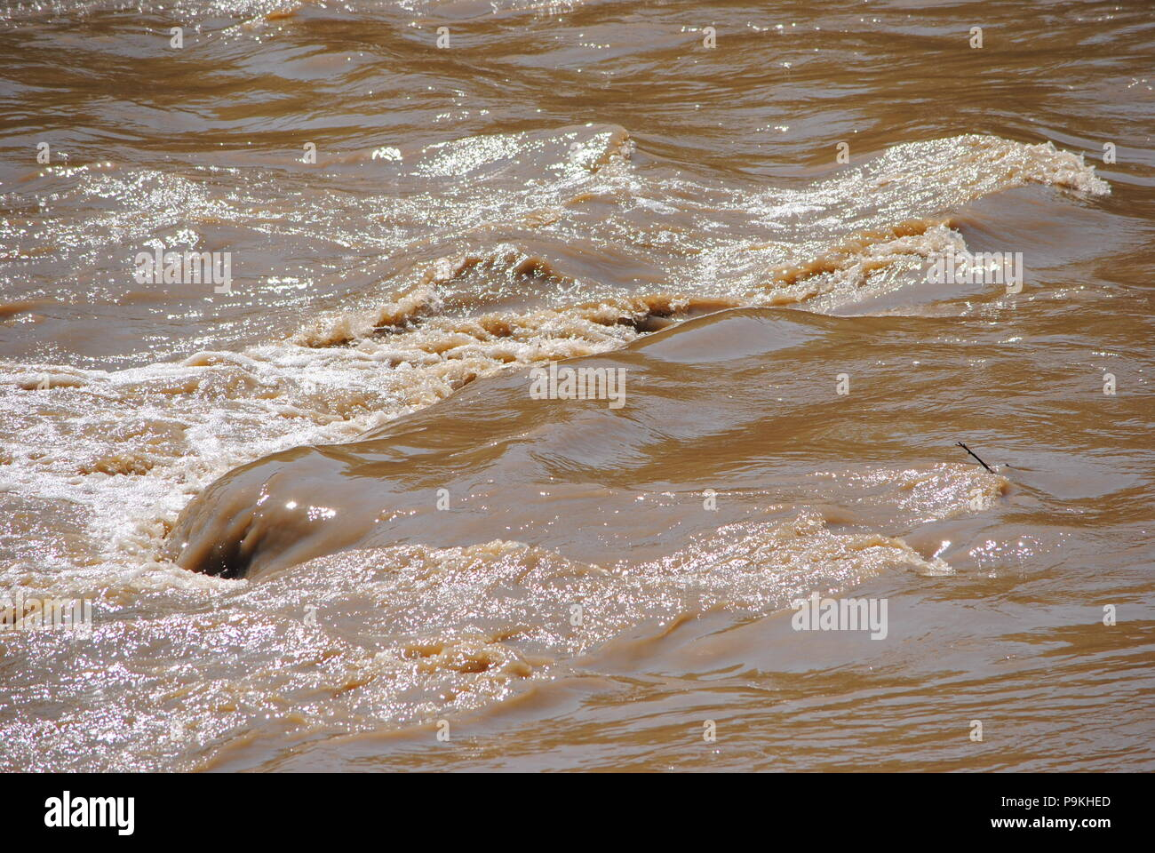 MUDDY WATERS, OF THE, SANDUSKY RIVER. - Stock Image