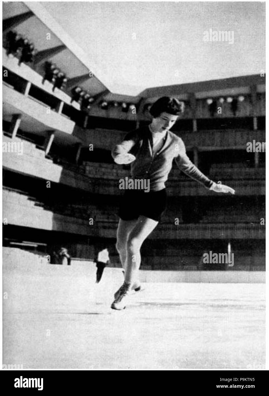 309 Tenley Albright at the 1956 Winter Olympics - Stock Image