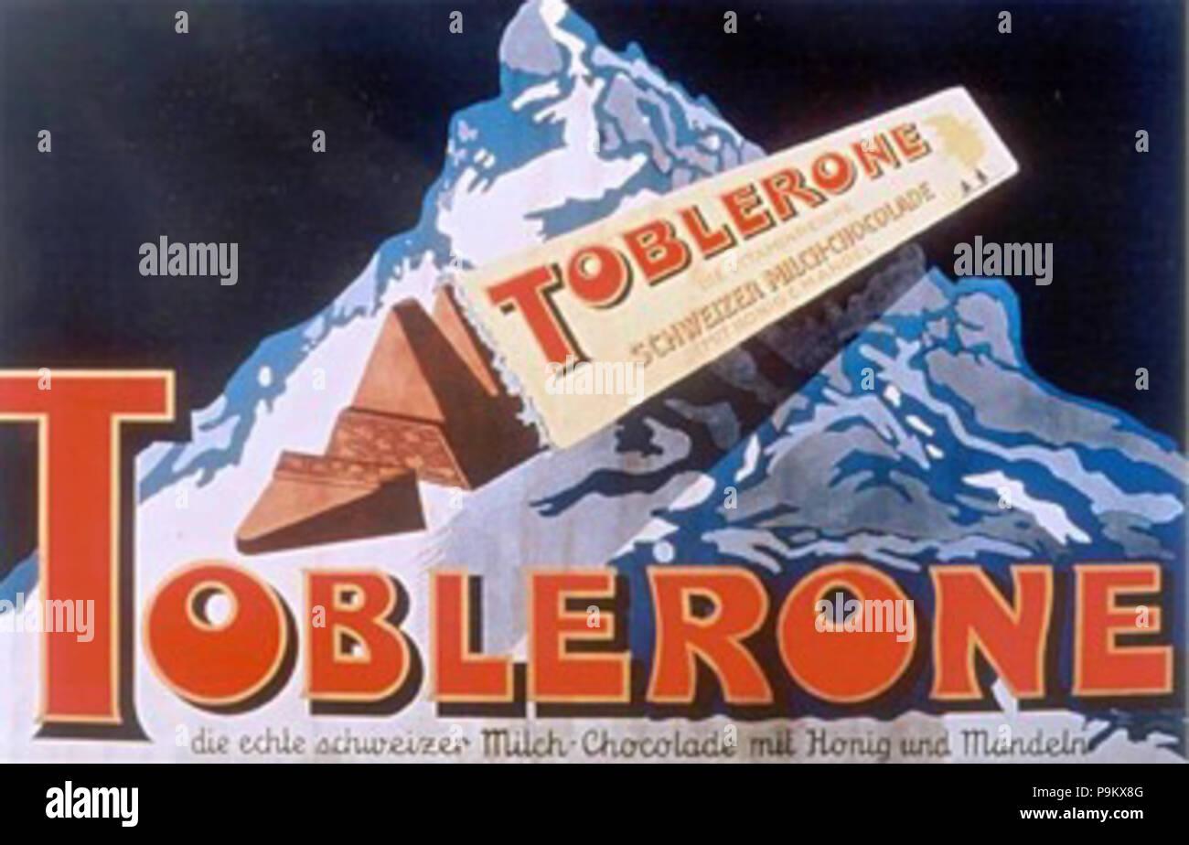 315 Toblerone Cardineaux anzeigen 3 2 2 emaille Stock Photo