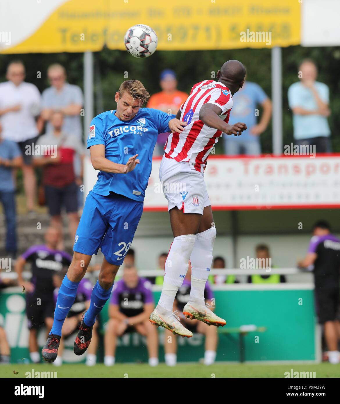 firo: 18.07.2018, football, 2.Bundesliga, season 2018/2019, VfL Bochum - Stoke City in Rheine Maxim LEITSCH | usage worldwide - Stock Image