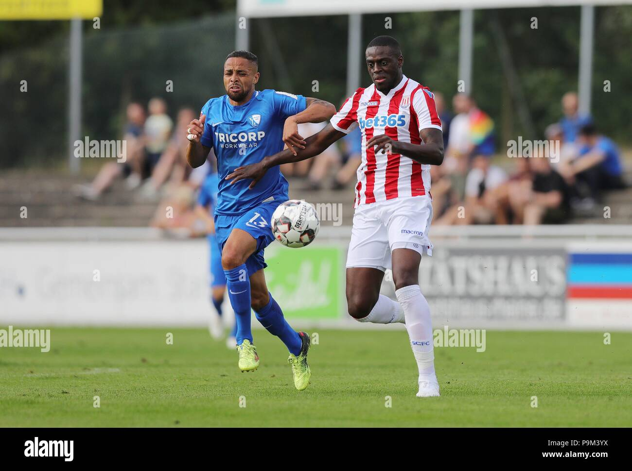 firo: 18.07.2018, Football, 2.Bundesliga, season 2018/2019, VfL Bochum - Stoke City in Rheine Sidney SAM | usage worldwide - Stock Image