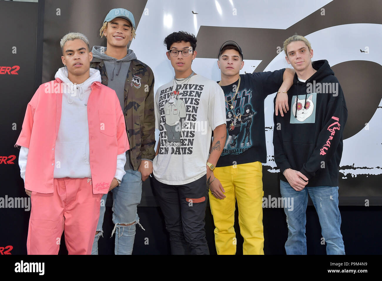 6 July 2018 Released Movie: Los Angeles, USA. 17th July, 2018. PrettyMuch At The