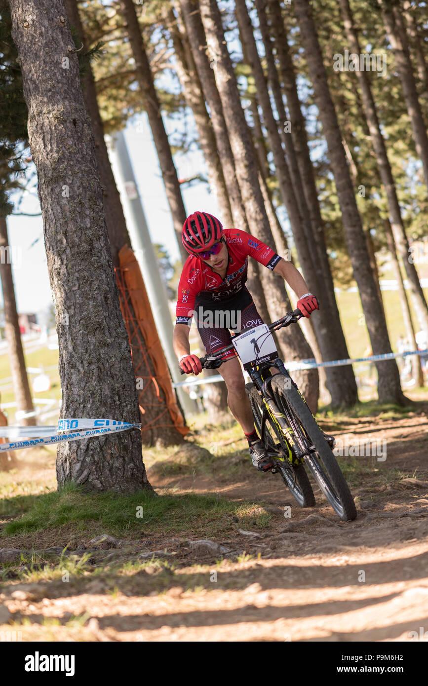 e0e4a72b4 FILIPE André POR in the MERCEDES-BENZ UCI MTB WORLD CUP MASTERS 2018 - XCO  - XCC - DHI Vallnord