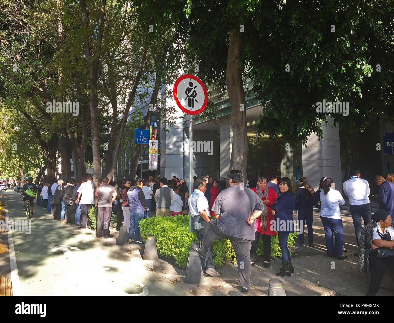 Mexico City, Mexico, 19 July 2018  An earthquake with a