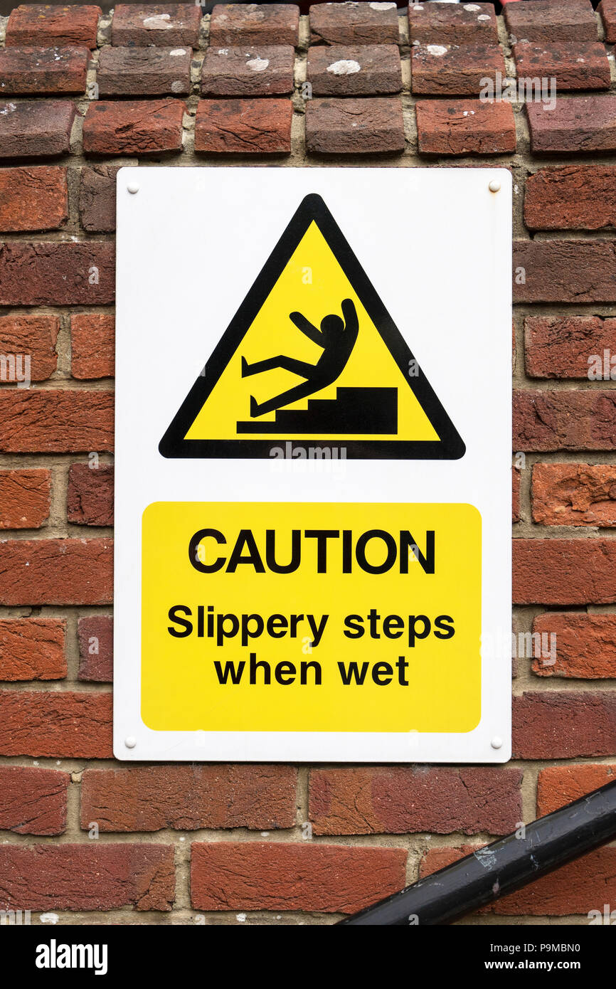 Caution sign - Stock Image