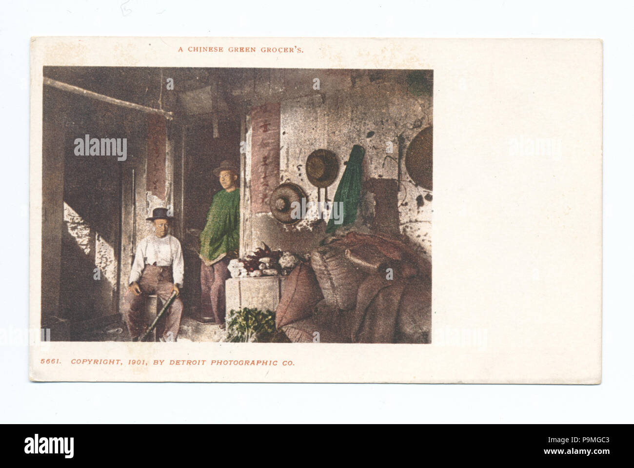 78 A Chinese Green Grocer, San Francisco, Calif (NYPL b12647398-62348) - Stock Image