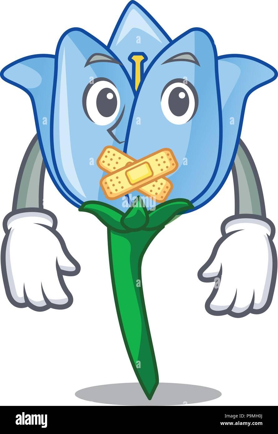 Silent Bell Flower Mascot Cartoon