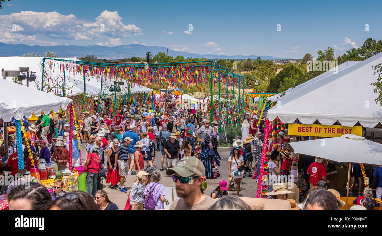 International Folk Art Market 2018 in Santa Fe New Mexico, USA Stock