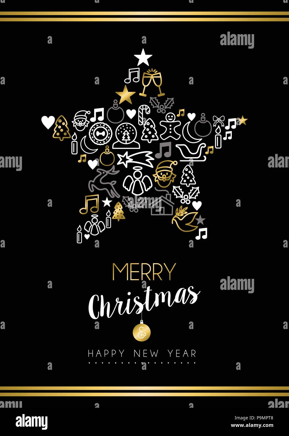 Weihnachtsbilder Merry Christmas.Merry Christmas And Happy New Year Greeting Card Holiday Decoration