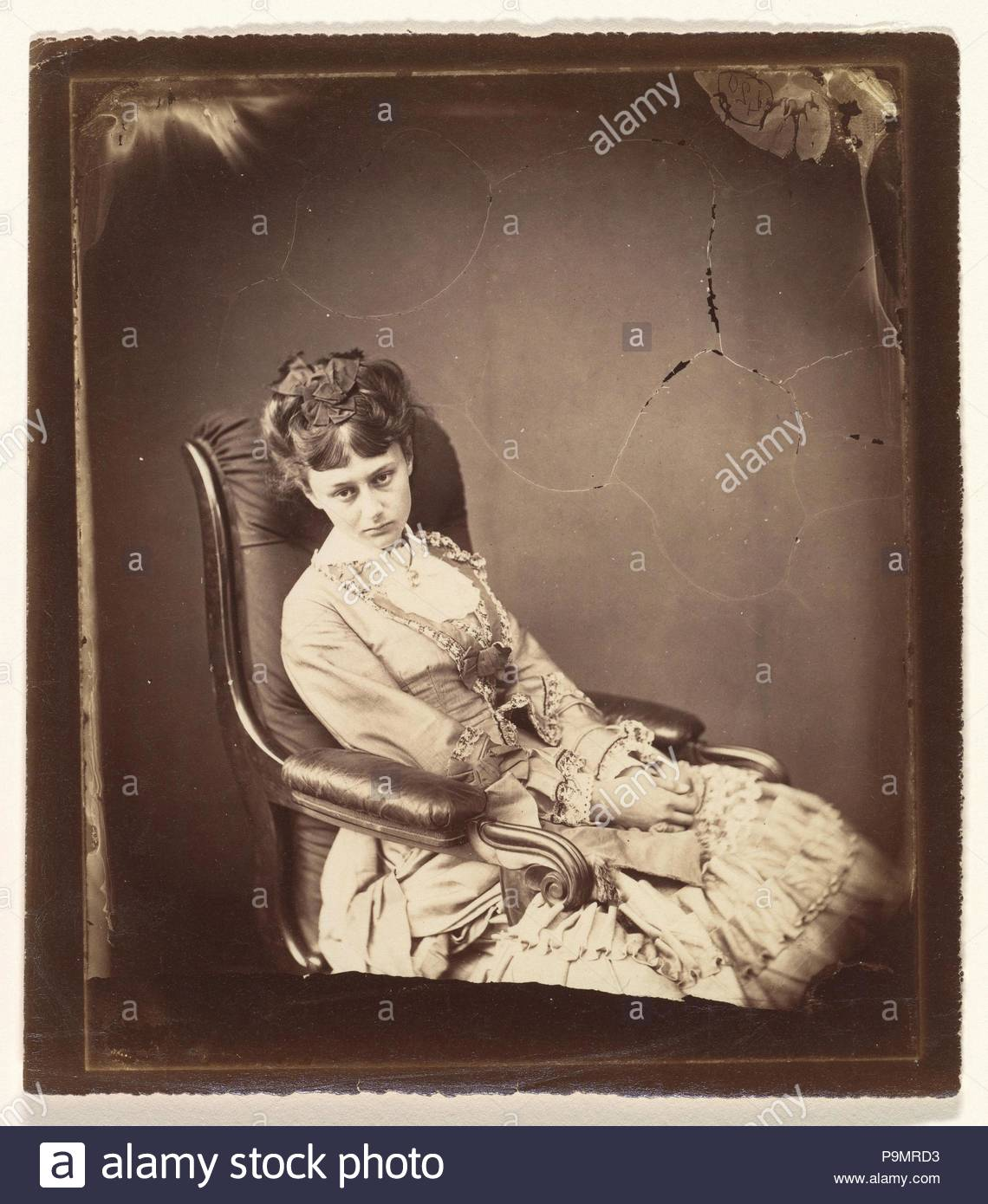 The Last Sitting, June 25, 1870, Albumen silver print from glass negative, Sheet: 6 1/4 × 5 9/16 in. (15.9 × 14.1 cm), Photographs, Lewis Carroll (British, Daresbury, Cheshire 1832–1898 Guildford). - Stock Image