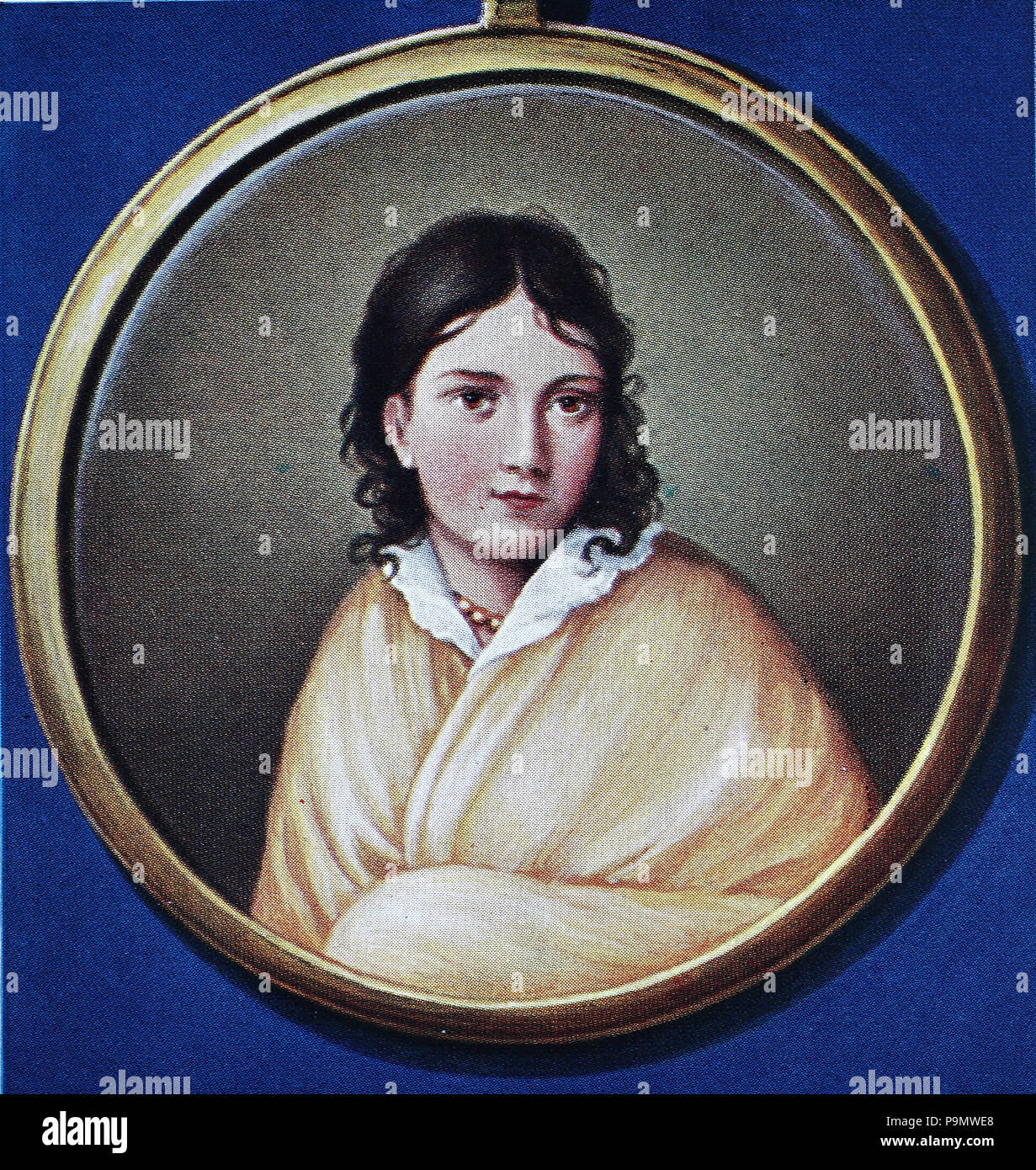 Bettina von Arnim, the Countess of Arnim, 4 April 1785 – 20 January 1859, born Elisabeth Catharina Ludovica Magdalena Brentano, was a German writer and novelist, digital improved reproduction of an original print from the year 1900 - Stock Image