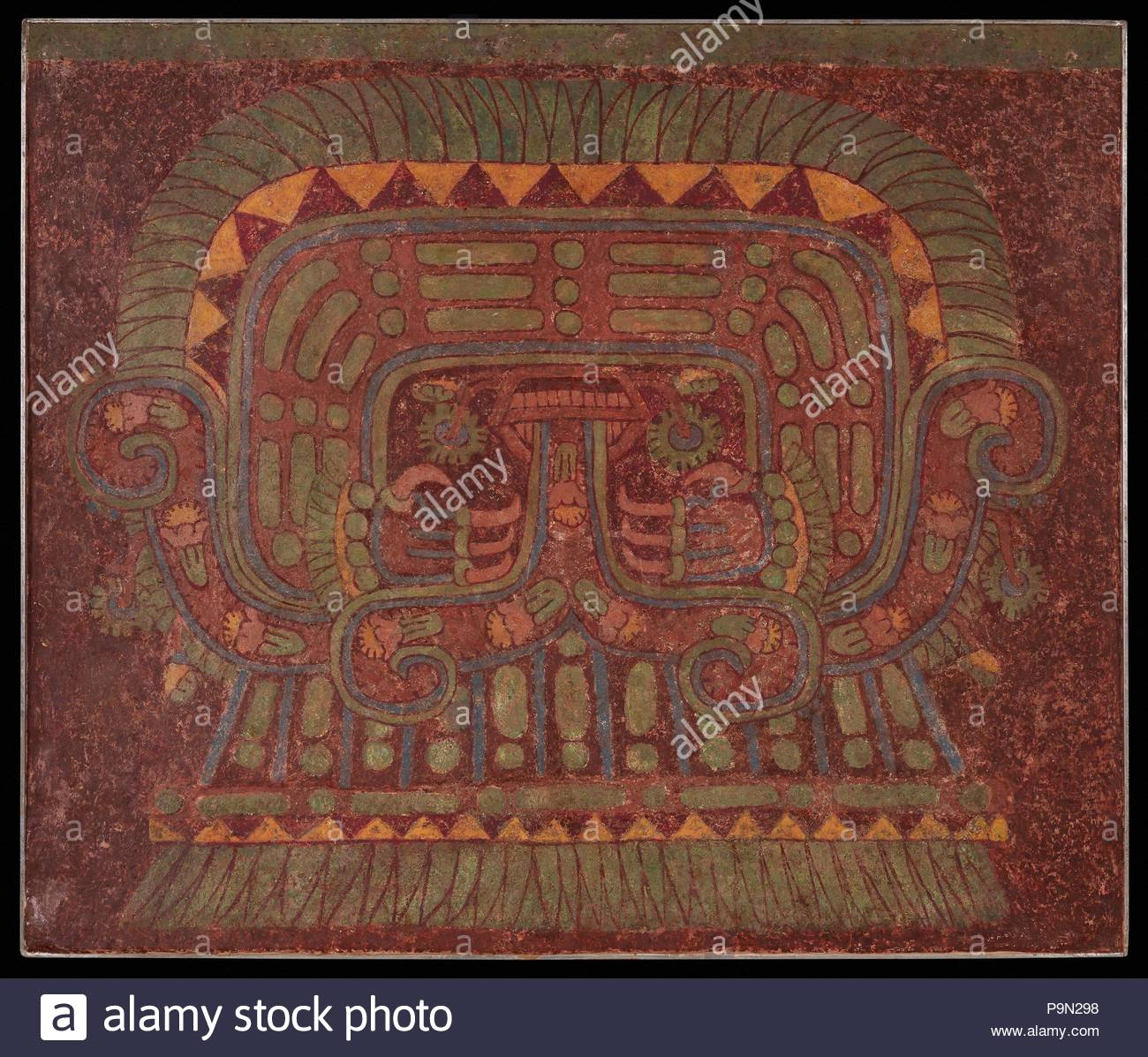 wall painting 650 750 mexico teotihuacan lime plaster paint h