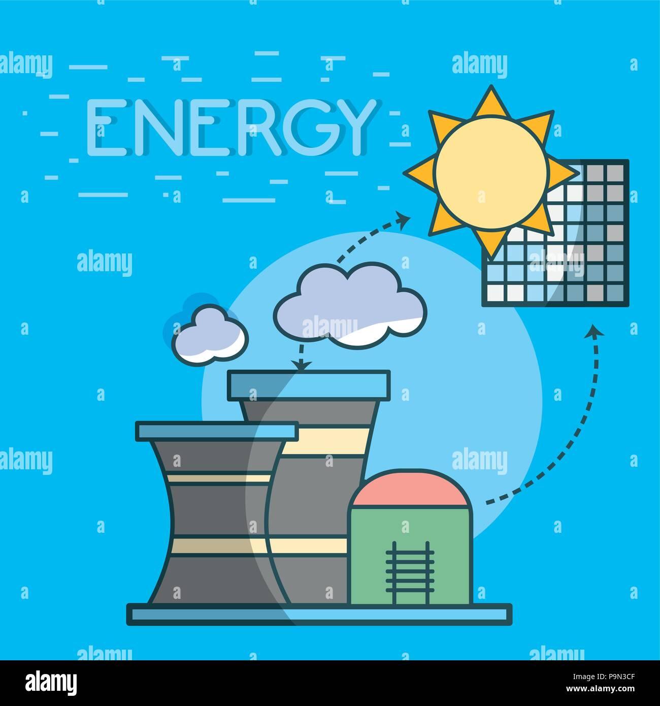 Energy power concept - Stock Vector