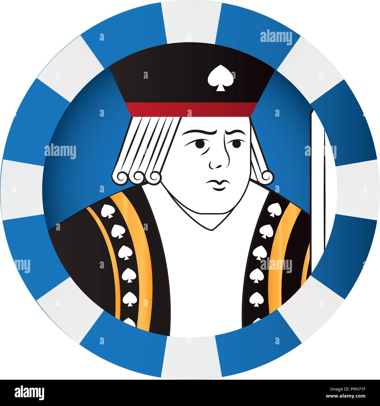 King Symbol Poker Card Game Stock Vector Image Art Alamy