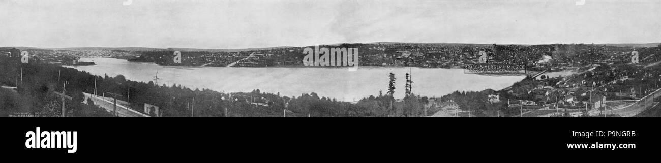 28 1907 Lake Union pano - Stock Image