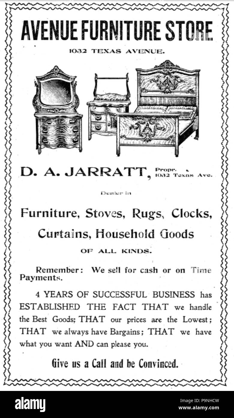 30 1910 Avenue Furniture Store Advert Texas Avenue In Shreveport Louisiana