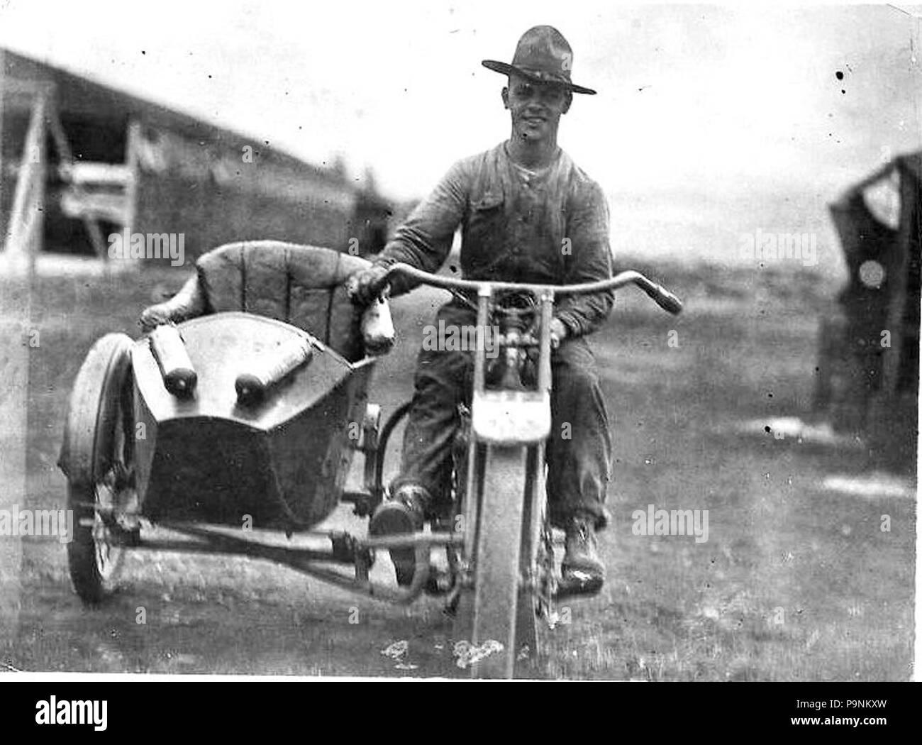 72 6th Aero Squadron motorcycle - Stock Image