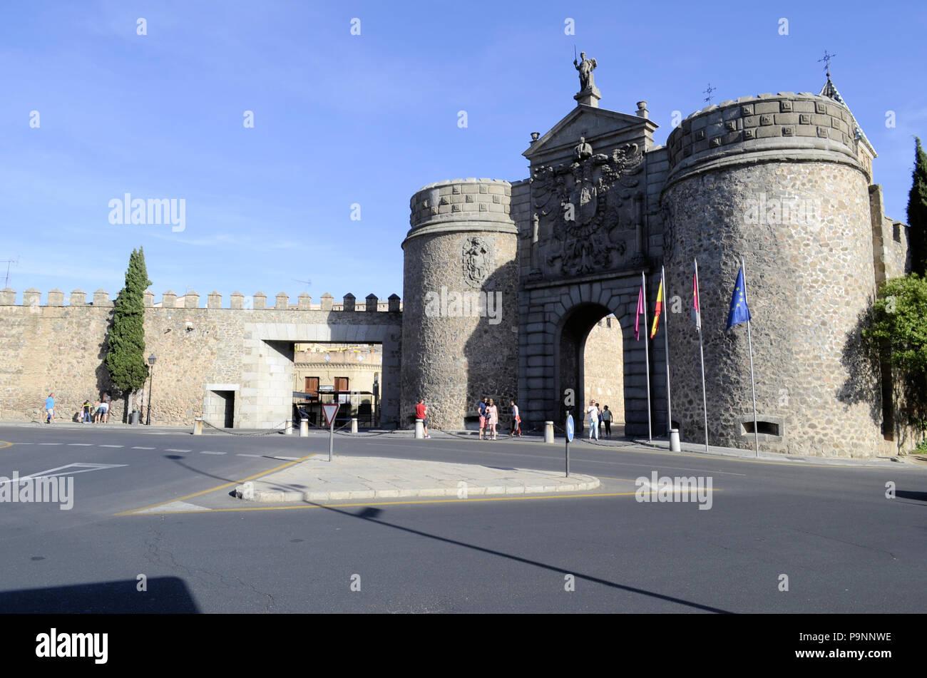 The 'new' Puerta de Bisagra, Toledo, Spain. - Stock Image
