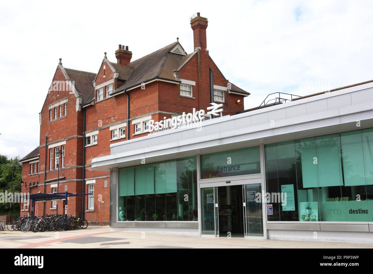 Basingstoke's Railway Station, UK. - Stock Image