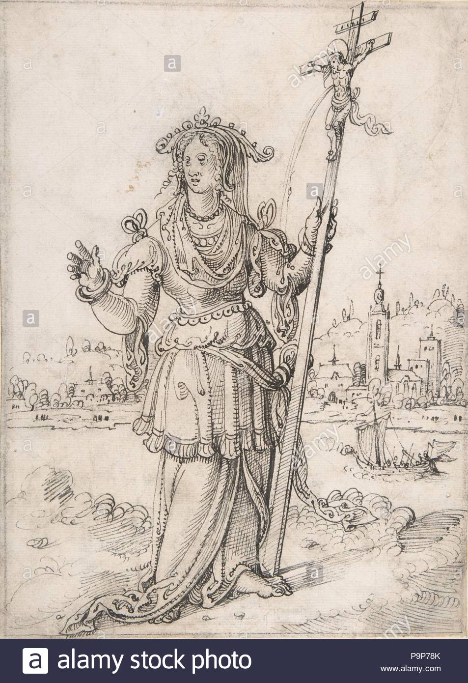 Allegorical Figure (Faith?), early 16th–mid 16th century, Pen and ...
