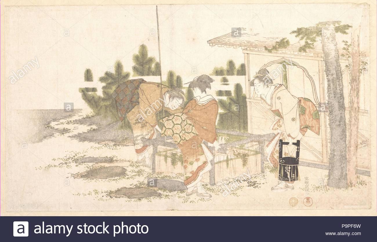1800 Japan Polychrome Woodblock Print Surimono Ink And Color On Paper 7 3 8 X 13 1 In 187 333 Cm Prints Katsushika Hokusai Japanese