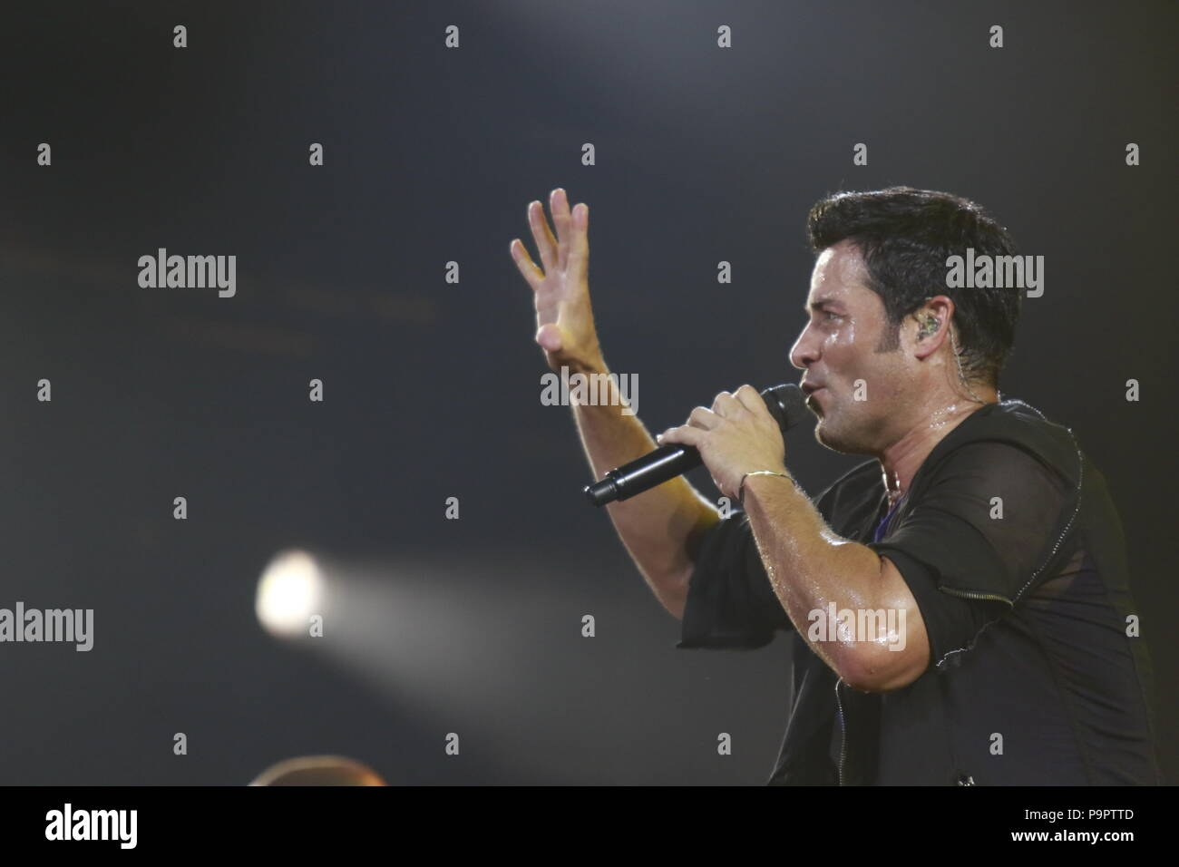 The dancer, singer and Puerto Rican actor Chayanne, during the night of his concert at The AXIS at Planet Hollywood in Las Vegas Nevada on 13 Sep 2015 Stock Photo