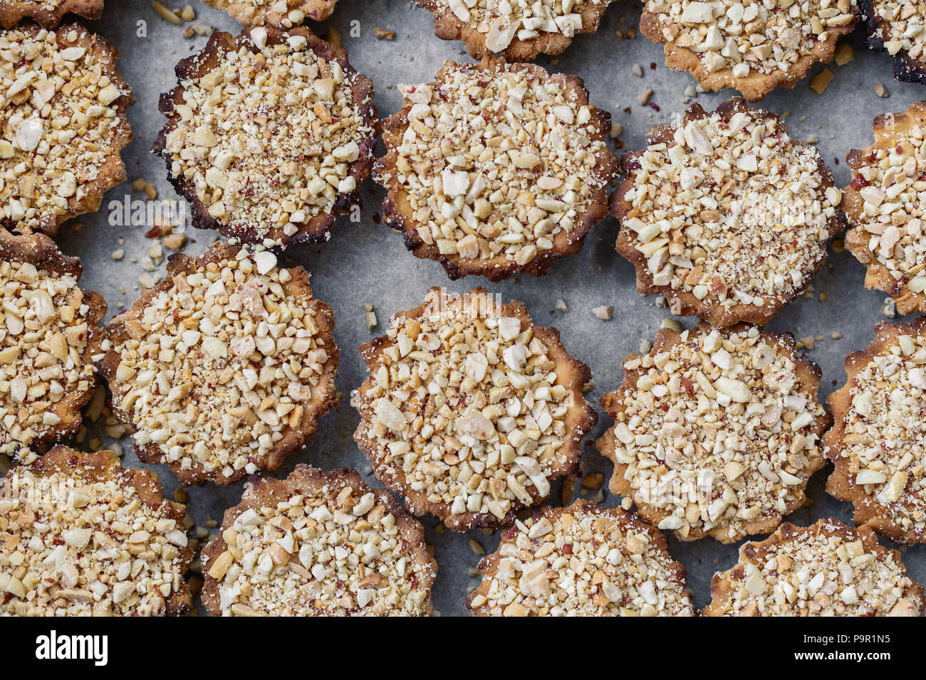 Cakes on a spacing in large quantities. - Stock Image