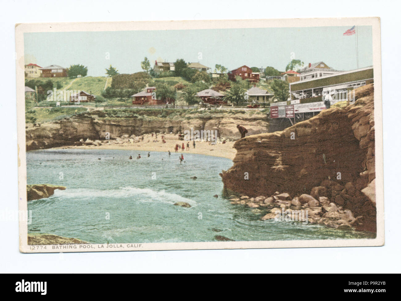 187 Bathing Pool, La Jolla, Calif (NYPL b12647398-70022) - Stock Image