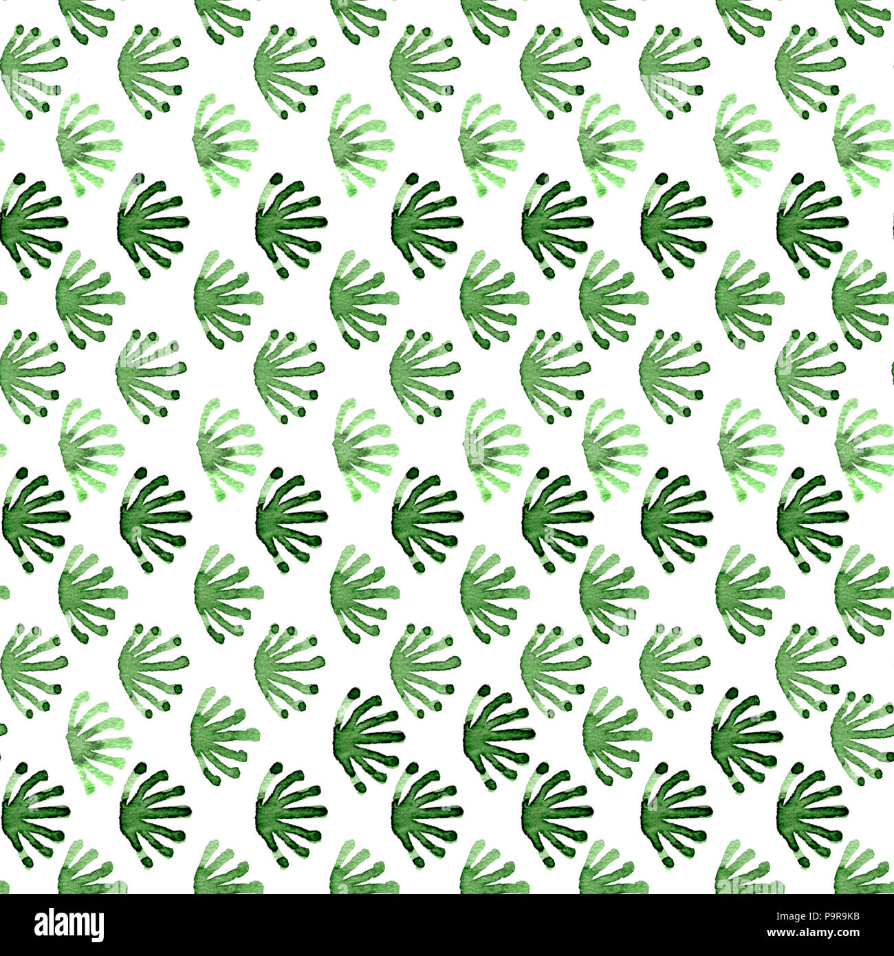 Seamless watercolour tile order floral pattern green on white Stock ...