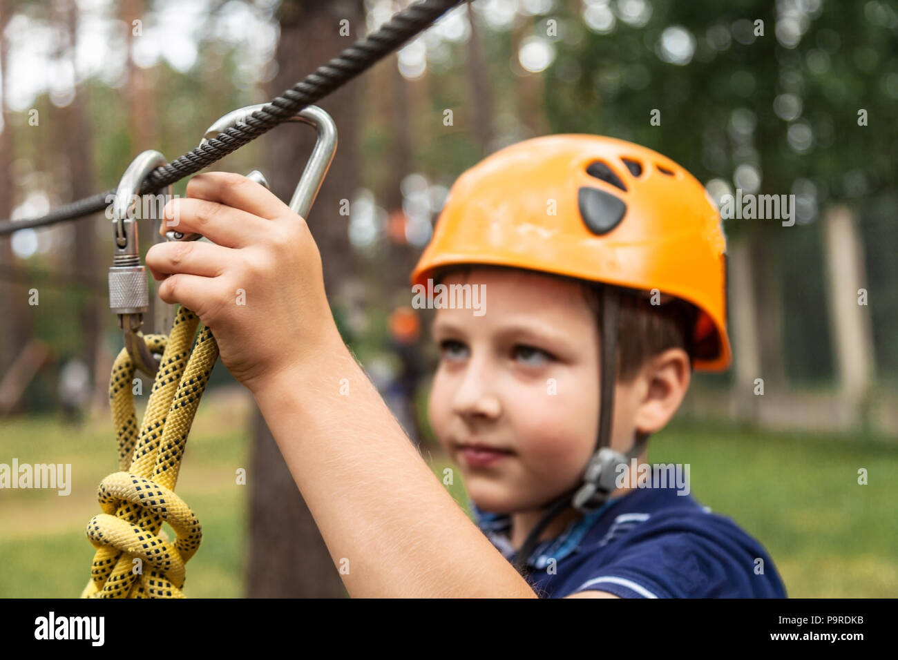 The boy insures his life - Stock Image