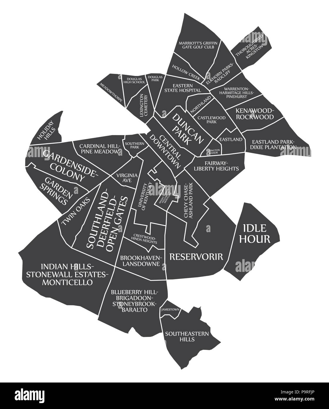 Lexington-Fayette Kentucky city map USA labelled black illustration on map of kentucky universities, map indiana in usa, map of kentucky elsewhere, map ohio in usa, map of kentucky paris,
