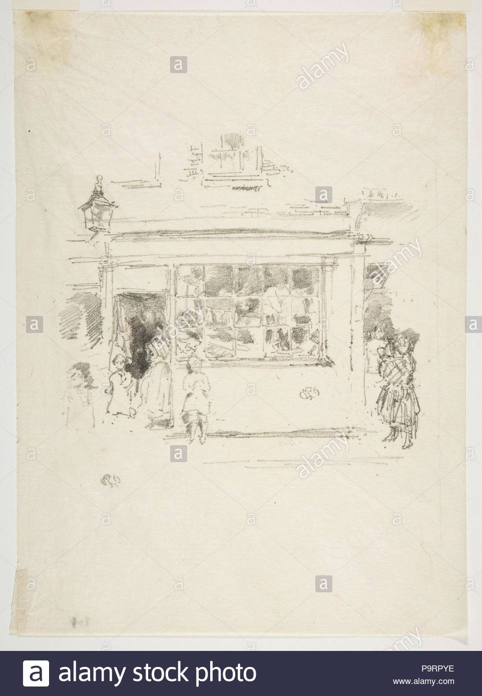 Drury Lane Rags, 1888, Transfer lithograph, drawn on medium-grain transfer paper; only state (Chicago), Image: 5 13/16 × 6 5/16 in. (14.7 × 16 cm), Prints, James McNeill Whistler (American, Lowell, Massachusetts 1834–1903 London). - Stock Image