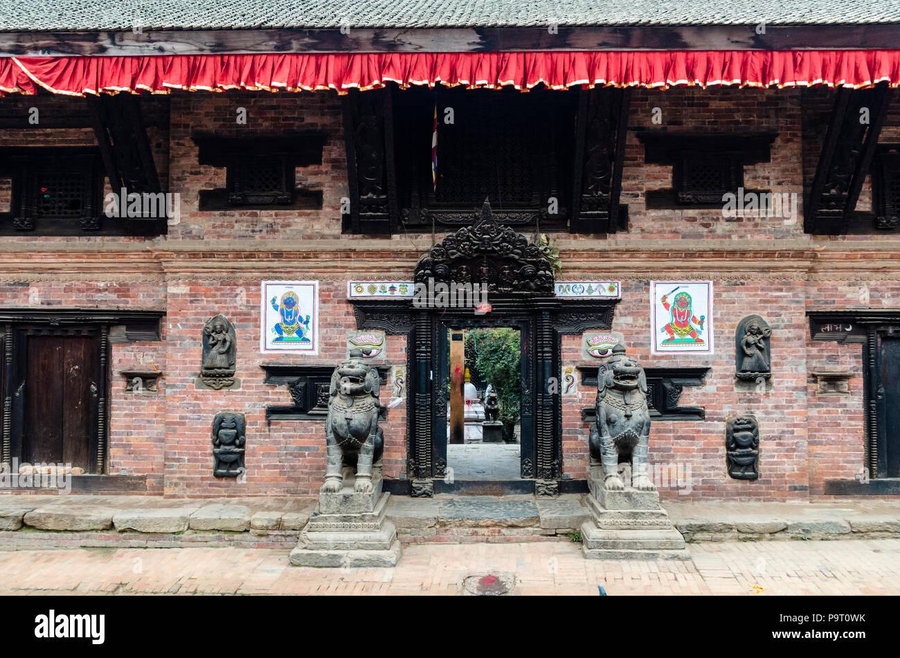 Newari architecture, Bhaktapur, Nepal Stock Photo