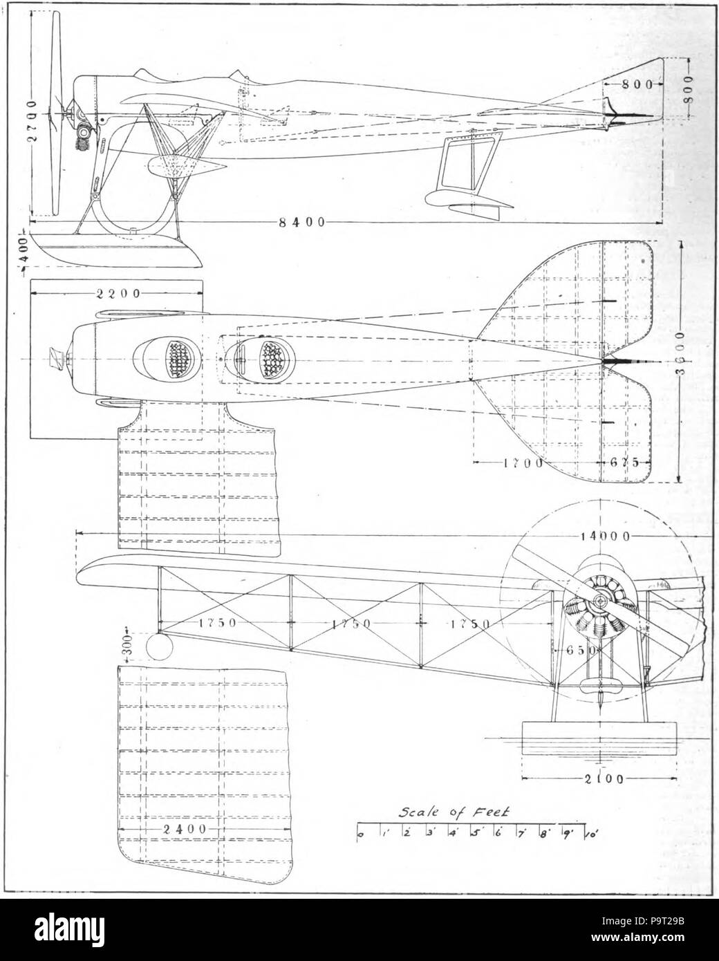 248 British deperdusson monoplane hydro.- Aero and Hydro volume 1 pg 279 - Stock Image