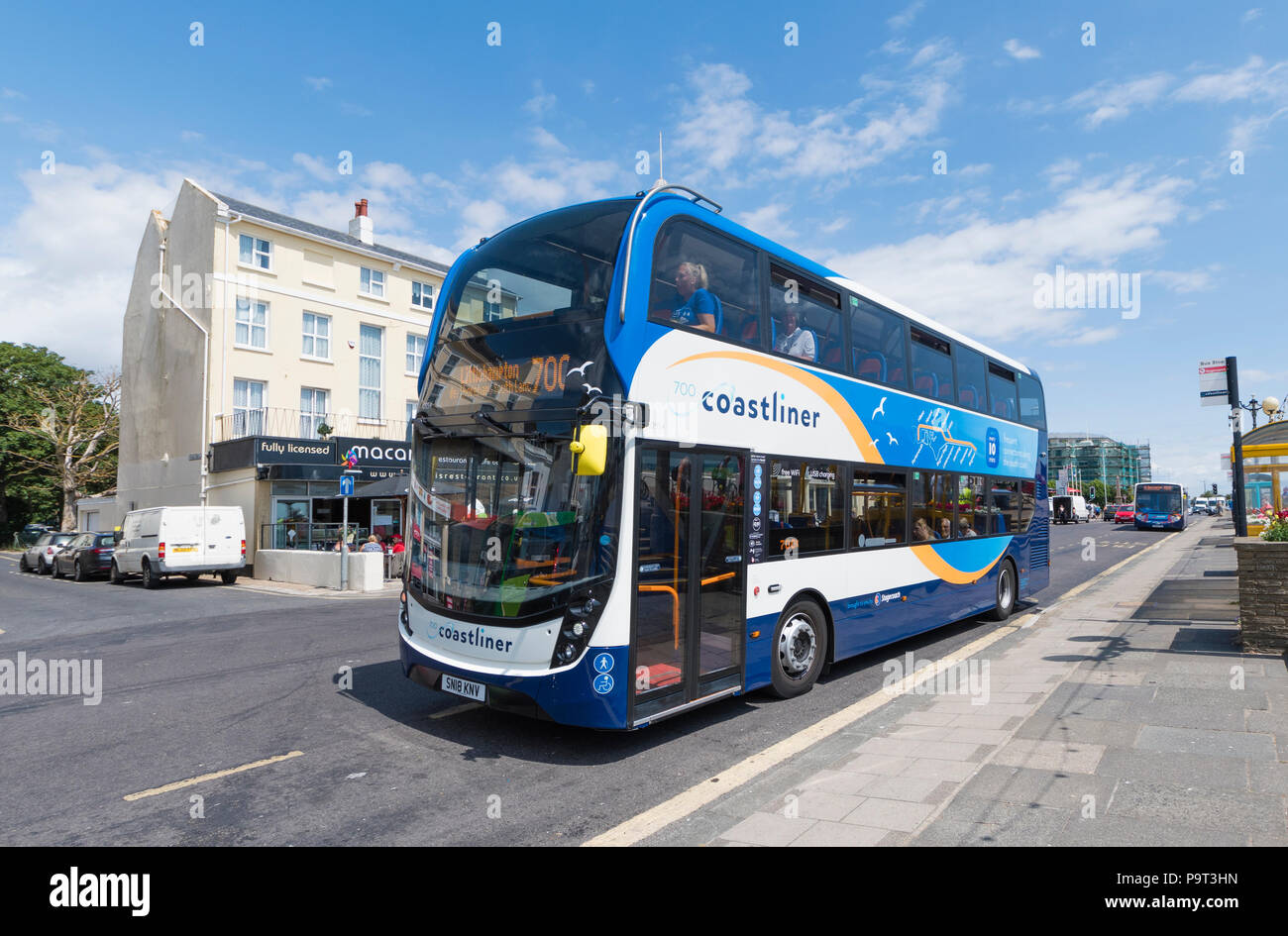 New Stagecoach Environmentally Friendly Number 700 Coastliner Bus In Worthing West Sussex England UK