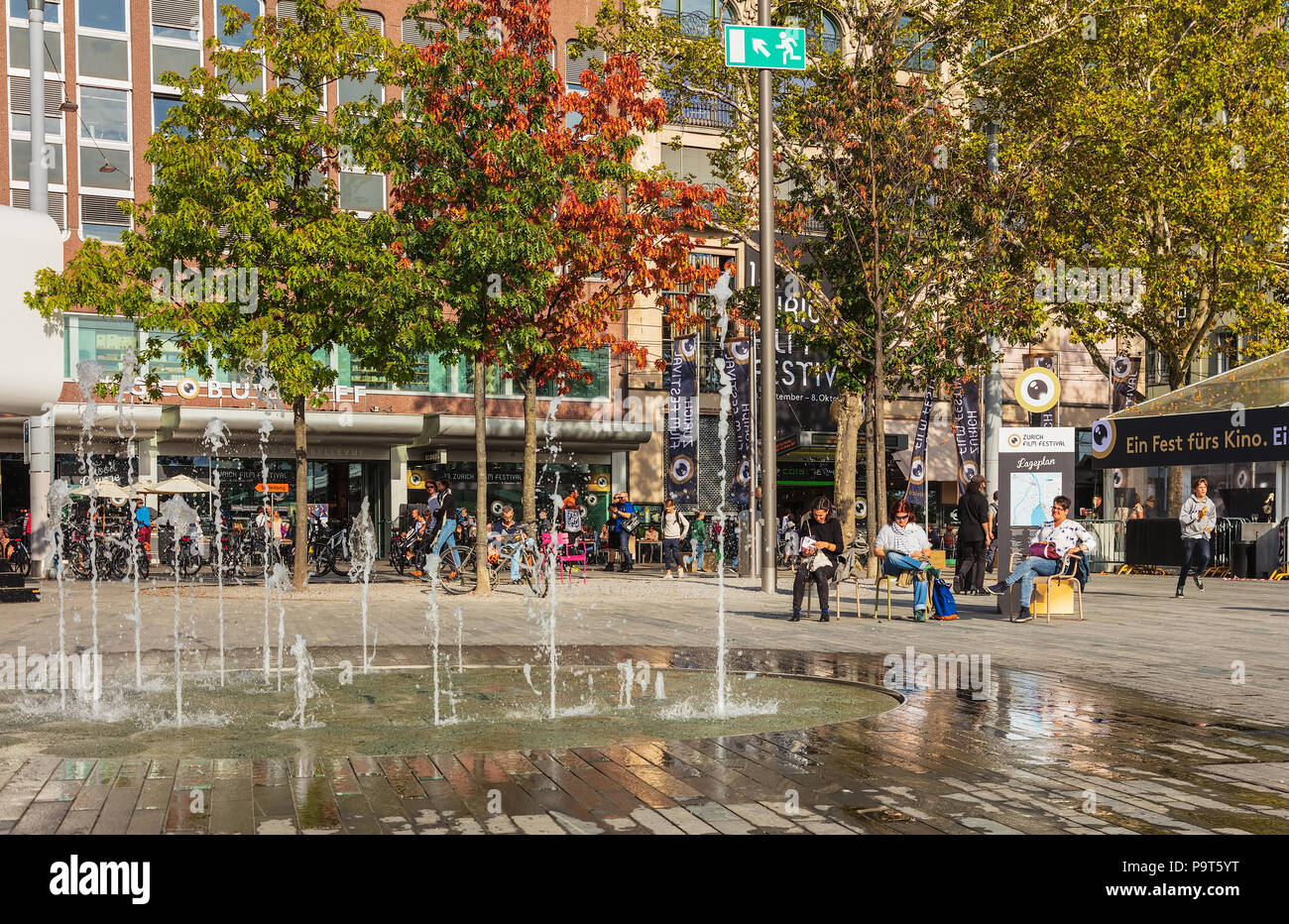 Zurich, Switzerland - September 29, 2017: people and the