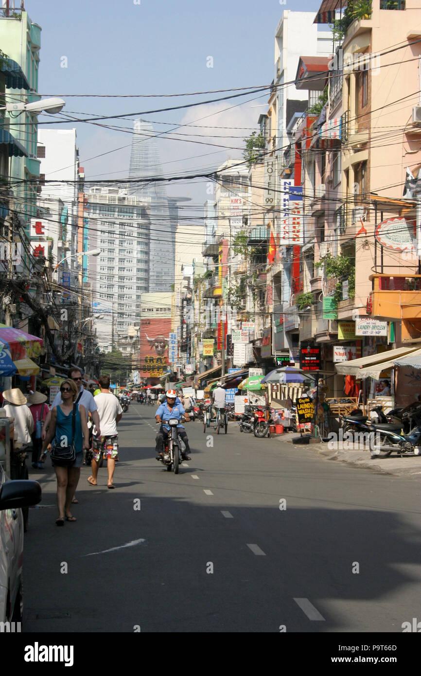 Busy Street, Ho Chi Minh City, Vietnam - Stock Image
