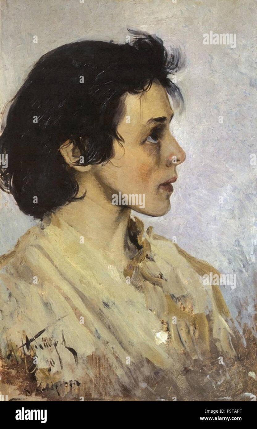 Nesterov  Mikhail - Portrait of Anna Chertkova 1 Stock Photo