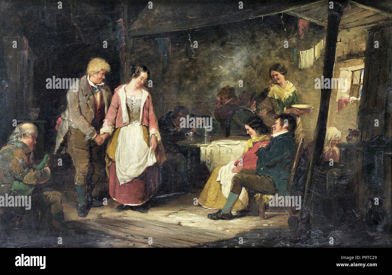 Nicol  Erskine - in a Country Tavern - Stock Image