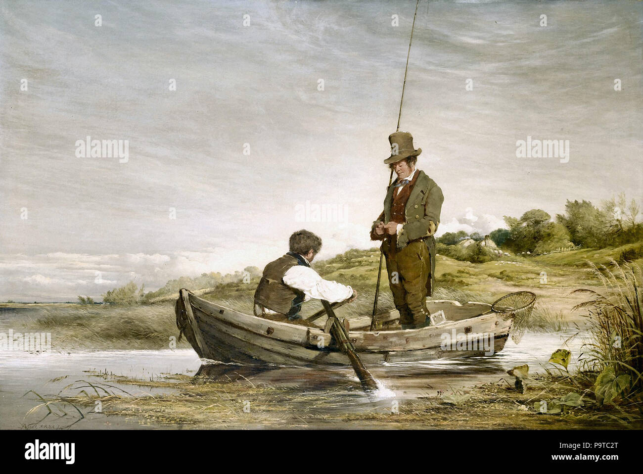 Nicol  Erskine - out for the Day  the Fly Fishers - Stock Image