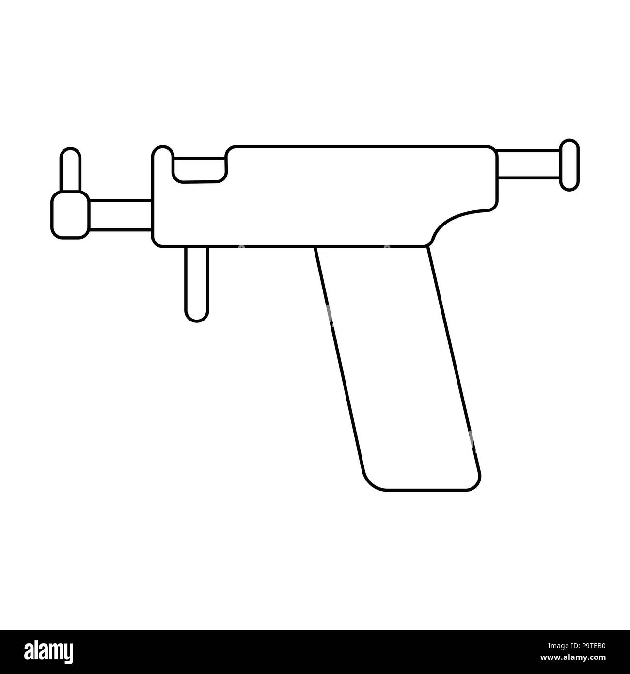 Tattoo Gun Icon Vector Vectors Stock Photos & Tattoo Gun