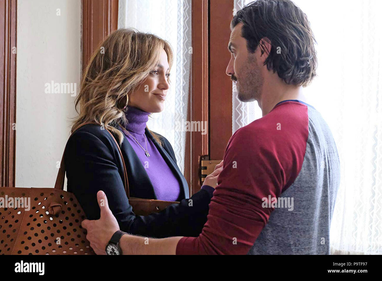 SECOND ACT STX Entertainment film with Jennifer Lopez and Milo Ventimiglia - Stock Image