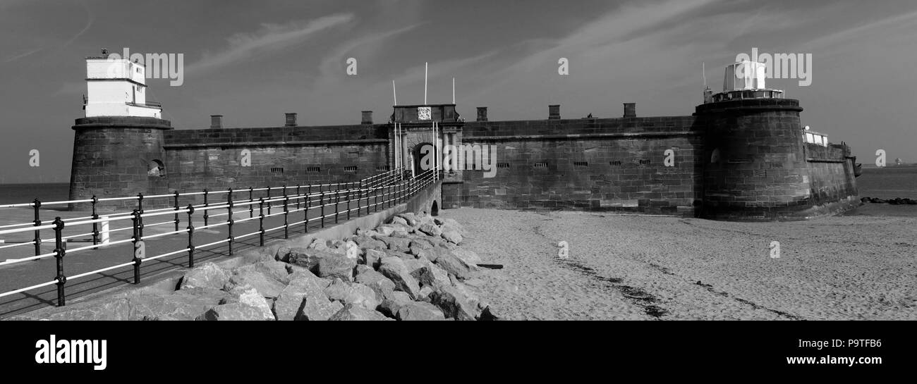 Fort Perch, New Brighton seaside resort, Wallasey town, Wirral, Merseyside, England, UK - Stock Image