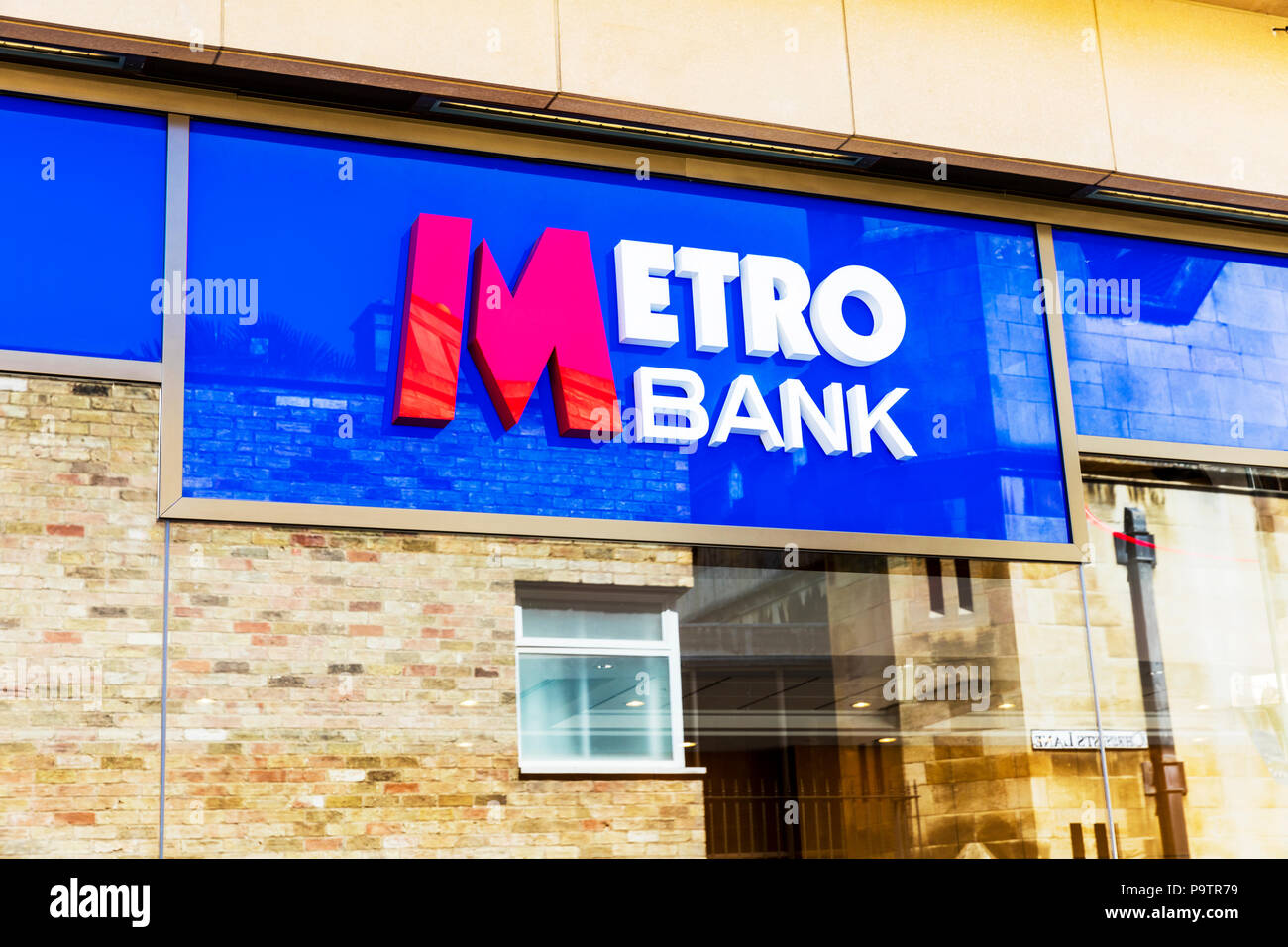 Metro Bank PLC is a retail bank operating in the UK, Metro Bank, Metro Bank sign, Metro Bank building, Metro Bank UK, UK Banks, UK bank, banks UK, UK Stock Photo
