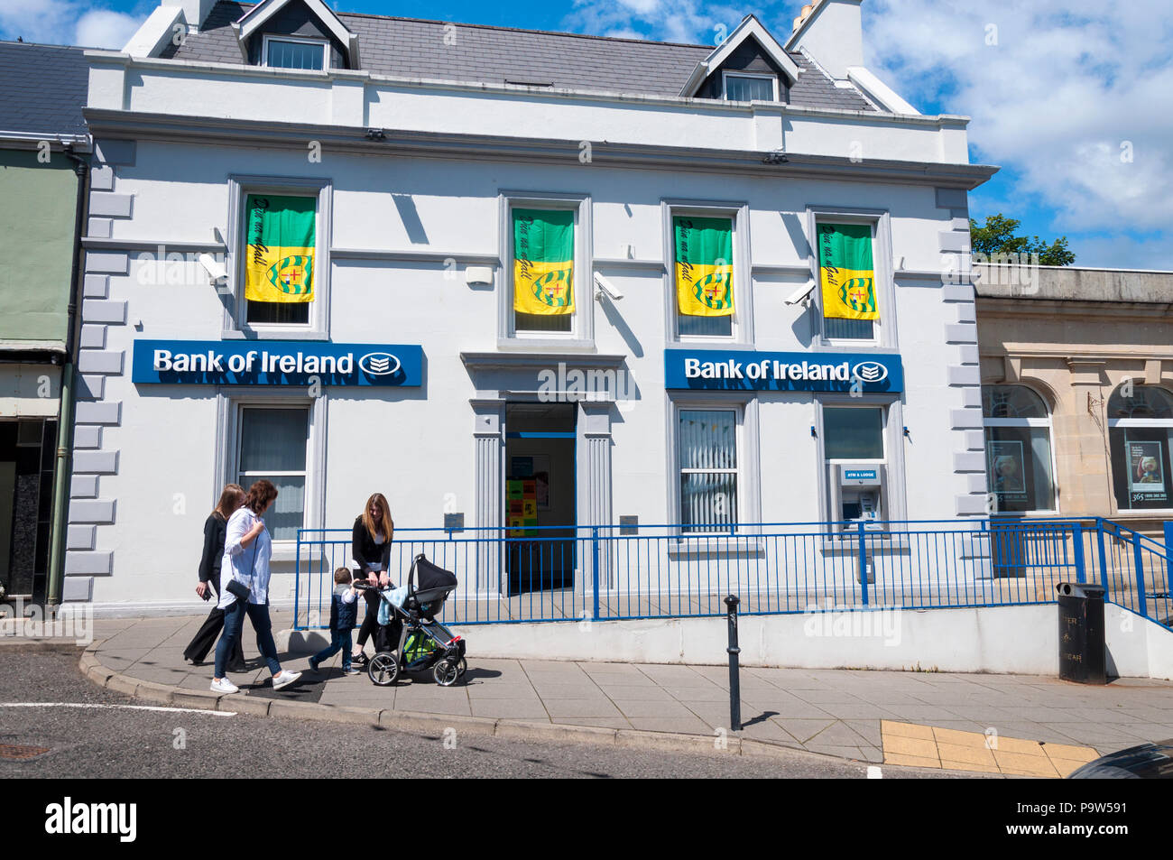 Bank of Ireland branch at Killybegs, County Donegal, Ireland - Stock Image