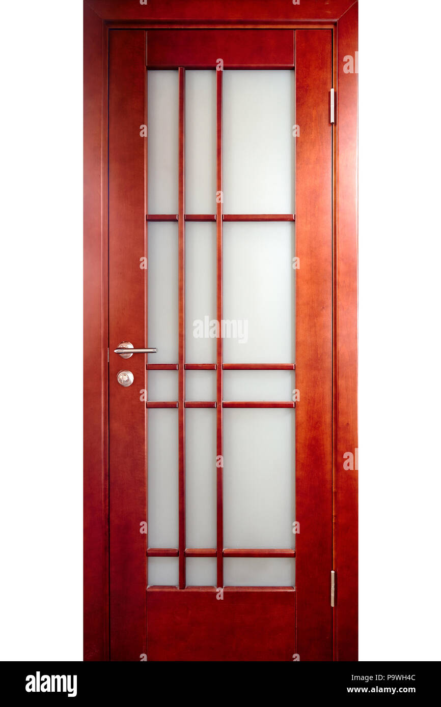 Corrugated and frosted patterned glass for interior doors