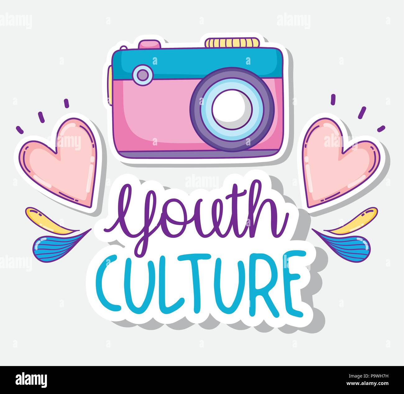 Youth culture cartoons - Stock Image