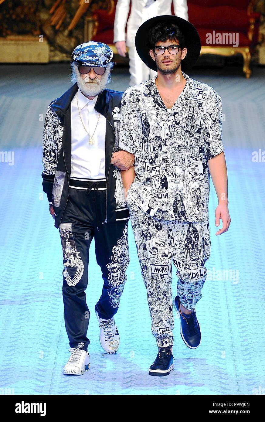 6ef2c13374c5 Milan Fashion Week Men's - Dolce & Gabbana Spring/Summer Men's Fashion 2019  - Catwalk Featuring: model Where: ...