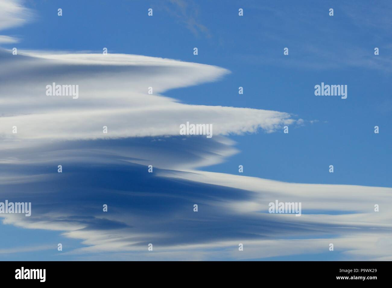 Cloudy sky, background image - Stock Image
